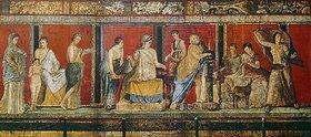 Anonym: Fresko mit der Darstellung dionysischer Mysterien. 1. Jh. n. Chr