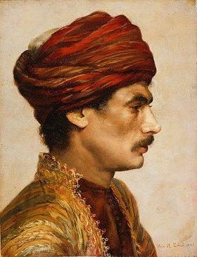 Rudolph Ernst: Porträt eines Mannes mit rotem Turban
