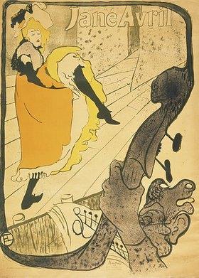 Henri de Toulouse-Lautrec: Lithographie Jane Avril
