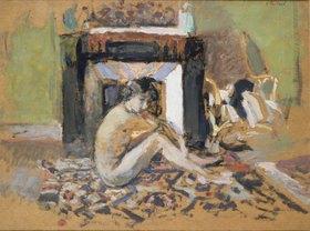 Edouard Vuillard: Frauenakt vor einem Kamin