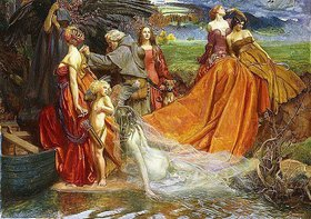 John Byam Liston Shaw: 'Now is Pilgrim Year fair Autumn's Charge'