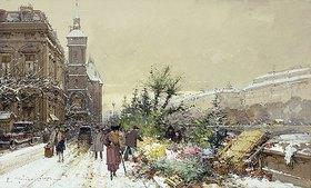 Eugene Galien-Laloue: Blumenmarkt (Marche aux Fleurs)