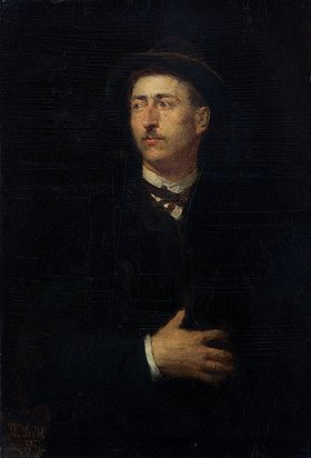 Wilhelm Leibl: Bildnis des Architekten Anton Wingen