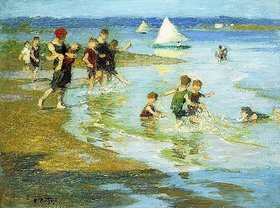 Edward Henry Potthast: Spielende Kinder am Strand (Children at Play on the Beach)