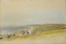 Edgar Degas: Häuser an den Klippen bei Villers-sur-Mer (Maisons sur des Falaises Contournant une Baie, Villers-sur-Mer)