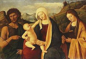 Marco Basaiti: Die Jungfrau mit dem Kinde. Mit Johannes dem Täufer und einer Heiligen