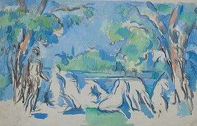 Paul Cézanne: Étude de baigneuses. / Die Badenden, Studie