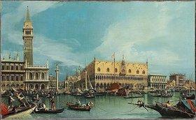 Canaletto (Giovanni Antonio Canal): Der Molo in Venedig, von dem Bacino di San Marco aus gesehen