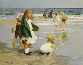 Edward Henry Potthast: Play in the Surf. / Spielen in der Brandung