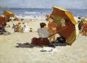 Edward Henry Potthast: Late Afternoon, Coney Island. / Coney Island am späten Nachmittag