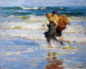 Edward Henry Potthast: At the Beach. / Am Strand