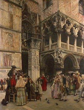 William Logsdail: Venedig, auf dem Marcusplatz
