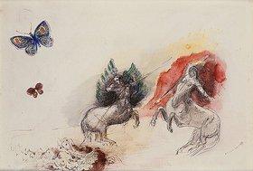 Odilon Redon: Schlacht der Kentauren (Lutte des Centaures)