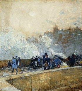 Frederick Childe Hassam: Ein windiger Tag, Paris