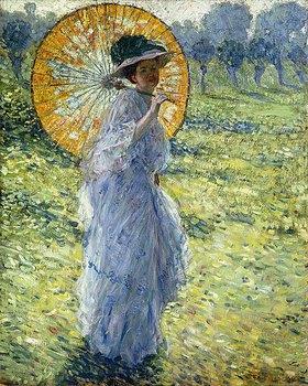 Frederick Karl Frieseke: Dame mit Sonnenschirm