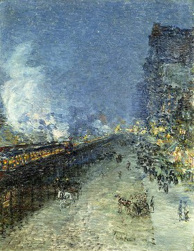 Frederick Childe Hassam: Die Hochbahn in New York (The El, New York)