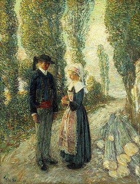 Frederick Childe Hassam: Bretonisches Paar, Pont Aven