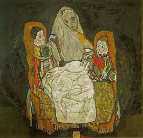 Egon Schiele: Mutter mit zwei Kindern