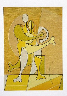 Ludwig Gebhard: Paar in Gelb