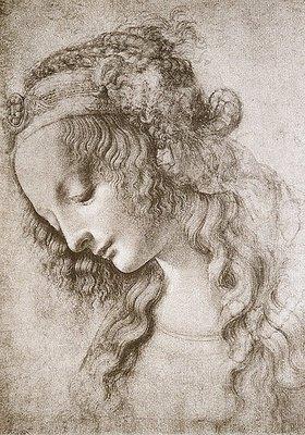 Leonardo da Vinci: Studie des Kopfes der Maria Magdalena