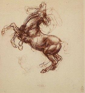 Leonardo da Vinci: Studie eines aufbäumenden Pferdes