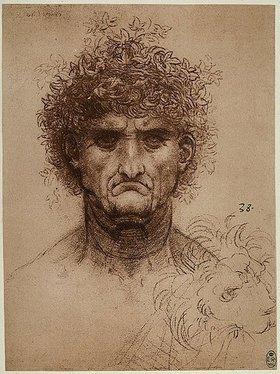Leonardo da Vinci: Kopf eines alten Mannes