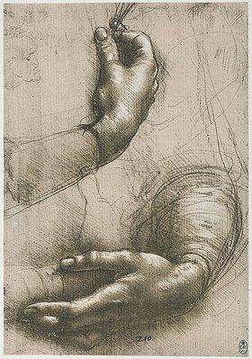 Leonardo da Vinci: Study of female hands