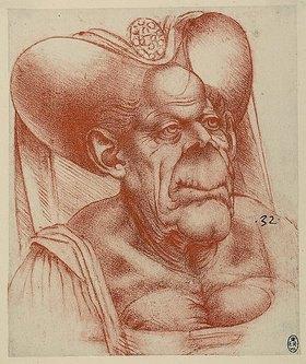 Leonardo da Vinci: Groteske Karikatur