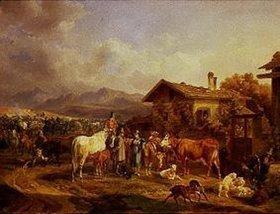 Benno Adam: Viehmarkt in den bayerischen Bergen