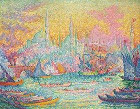 Paul Signac: Goldenes Horn, Konstantinopel. / La Corne d'Or, Constantinople