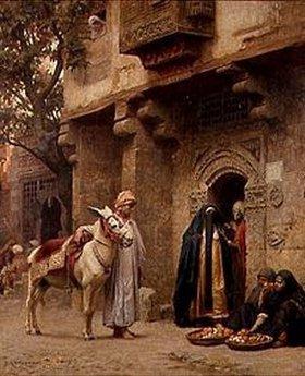 Frederick Arthur Bridgman: Arabische Straßenszene