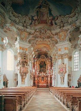 Johann Baptist Zimmermann: Wallfahrtskirche. Innenansicht des Kirchenraums