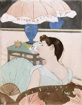 Mary Cassatt: Die Lampe