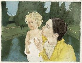 Mary Cassatt: Mutter und Kind an einem Teich