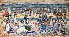 Maurice Brazil Prendergast: Revere Beach bei Ebbe