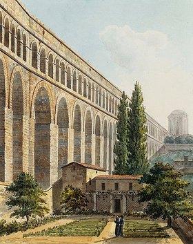 Unbekannter Künstler: Ansicht des Aquädukts in Arcueil, nahe Paris