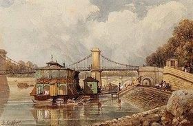 Albert Cutbert: Ein Waschschiff nahe der Pont des Invalides