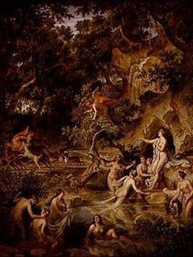 Joseph Anton Koch: Landschaft mit Diana und Aktäon