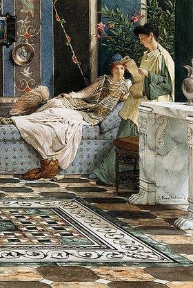 Sir Lawrence Alma-Tadema: Ein Brief aus der Ferne