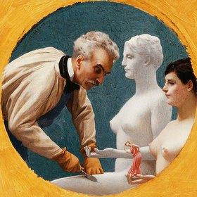 Jean-Léon Gérome: Selbstbildnis mit einer Tanagra-Figur