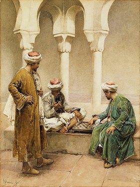 Gustavo Simoni: Araber beim Schachspiel