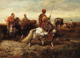 Adolf Schreyer: Arabische Reiter