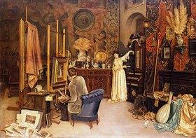 Achille Glisenti: Im Atelier des Malers