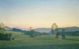 Georg Schrimpf: Landschaft im Bayerischen Wald