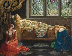 John Collier: Schlafende Schönheit. / The Sleeping Beauty