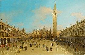 Canaletto (Giovanni Antonio Canal): Der Markusplatz in Venedig, Blick nach Osten