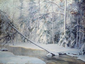 Walter Launt Palmer: Winterlandschaft mit geknicktem Ba