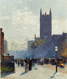 Frederick Childe Hassam: Lower Fifth Avenue