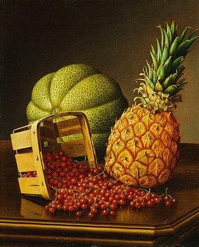 Levi Wells Prentice: Stillleben mit Ananas, Melone und Beeren