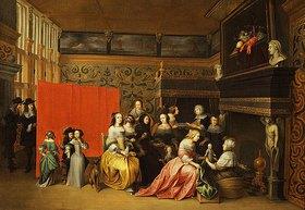 Hieronymus Janssens: Freude über die Geburt eines Kindes